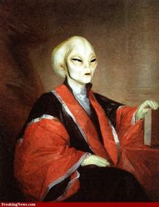 A quoi ressemblent les extraterrestres ? dans Les extraterrestres alien-painting-40235-231x300